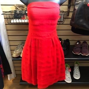 Ted Baker Red Tiered Layered Chiffon Dress